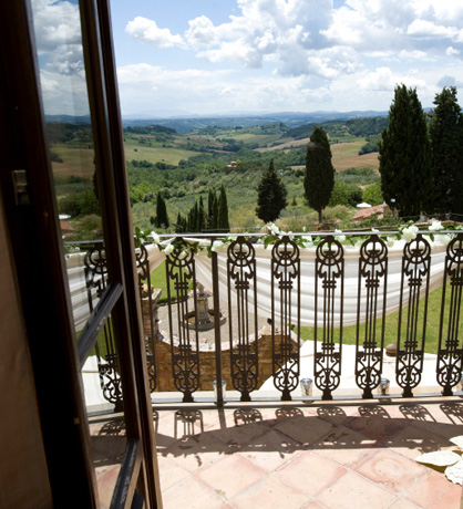 view from a luxury property in italy